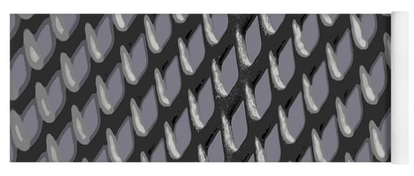 Just Grate Abstract Pattern With Heather Background Yoga Mat