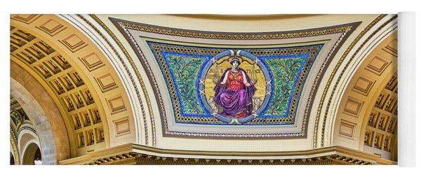 Justice Mural - Capitol - Madison - Wisconsin Yoga Mat