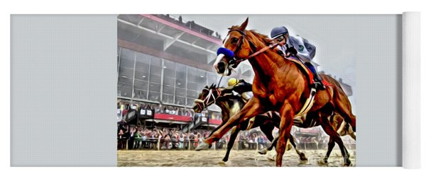 Justify Wins Preakness Yoga Mat