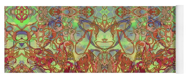 Kaleid Abstract Tapestry Yoga Mat