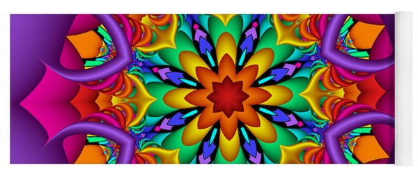 Kaleidoscope Flower 01 Yoga Mat