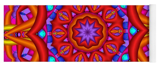 Kaleidoscope Flower 02 Yoga Mat