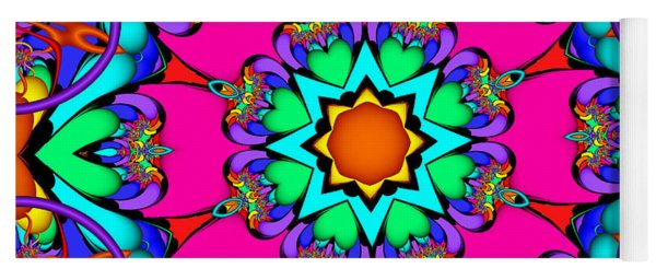 Kaleidoscope Flower 03 Yoga Mat