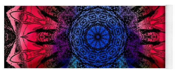 Kaleidoscope - Warm And Cool Colors Yoga Mat