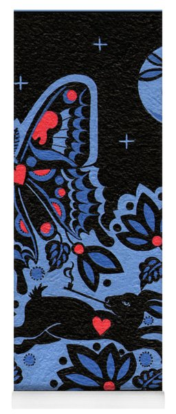 Yoga Mat featuring the painting Kamwatisiwin - Gentleness In A Persons Spirit by Chholing Taha
