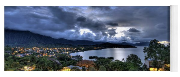 Kaneohe Bay Night Hdr Yoga Mat