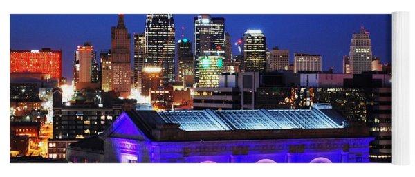 Kansas City Skyline At Night Yoga Mat