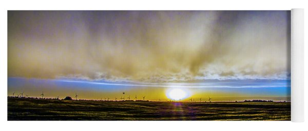 Yoga Mat featuring the photograph Kansas Storm Chase Bust Day 005 by NebraskaSC