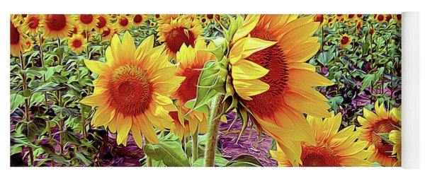 Kansas Sunflowers Yoga Mat