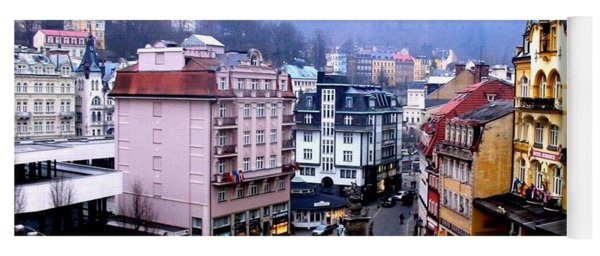 Yoga Mat featuring the photograph Karlovy Vary Cz by Michelle Dallocchio