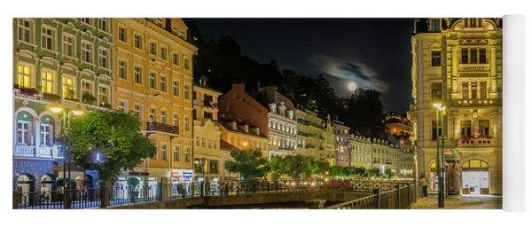 Karlovy Vary Tepla Riverside At Full Moon Yoga Mat