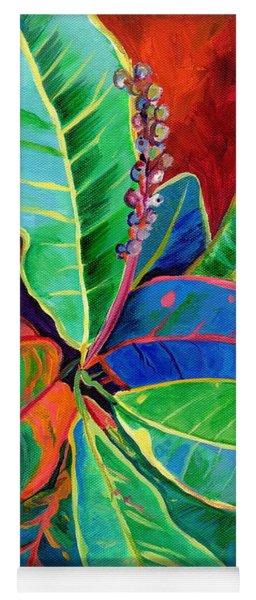Kauai Croton Leaves 2 Yoga Mat