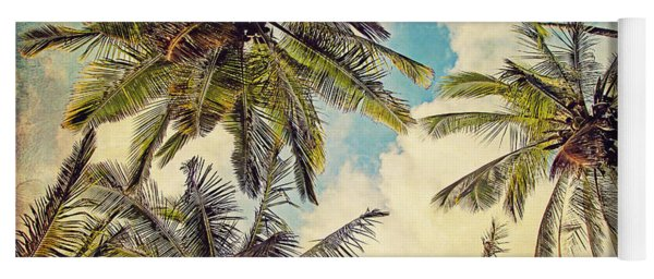 Kauai Island Palms - Blue Hawaii Photography Yoga Mat
