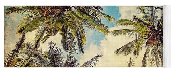 Kauai Island Palms - Blue Hawaii Photography Yoga Mat