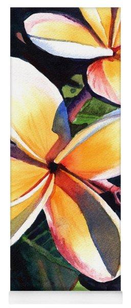 Kauai Rainbow Plumeria Yoga Mat
