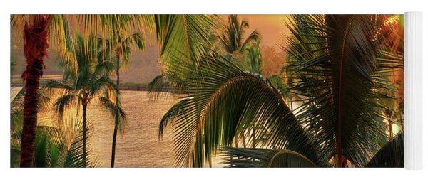 Olena Art Kauai Tropical Island View Yoga Mat