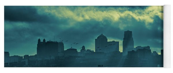 Kaw Point Kansas City Skyline Yoga Mat