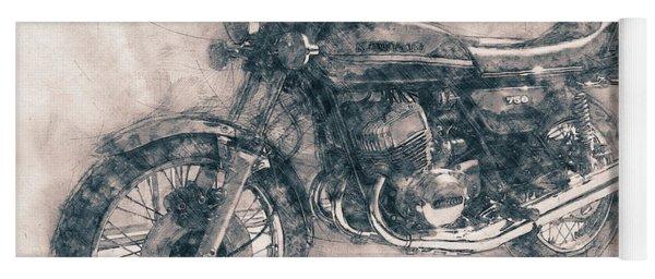 Kawasaki Triple - Kawasaki Motorcycles - 1968 - Motorcycle Poster - Automotive Art Yoga Mat