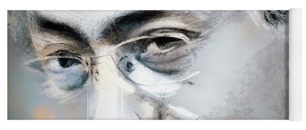 Kazuo Ishiguro - Portrait Drawing Yoga Mat