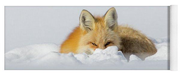 Snow Hide Yoga Mat