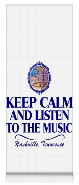 Keep Calm And Listen To The Music Yoga Mat