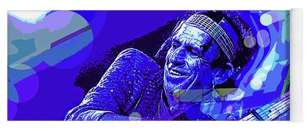 Keith Richards Blue Yoga Mat
