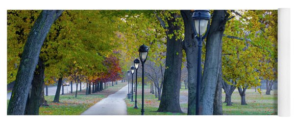Yoga Mat featuring the photograph Kelly Drive In Autumn by Bill Cannon