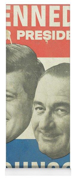 Kennedy For President Johnson For Vice President Yoga Mat
