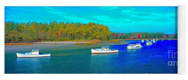 Kennebunkport, Maine, Lobster Boats Yoga Mat