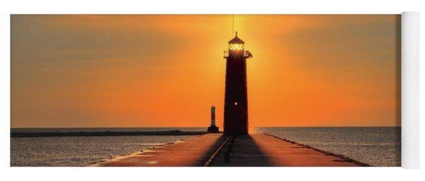 Kenosha Lighthouse Shining Light Yoga Mat