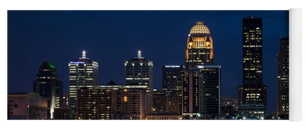 Louisville At Night Yoga Mat