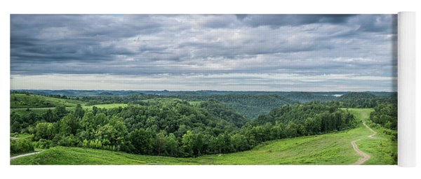 Kentucky Hills And Clouds Yoga Mat