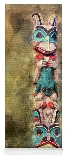 Ketchikan Alaska Totem Pole Yoga Mat