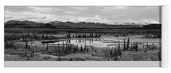 Kettle Pond And The Alaska Range Yoga Mat