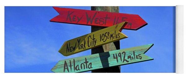 Key West 165 Miles Yoga Mat
