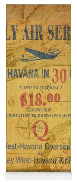 Key West To Havana Yoga Mat