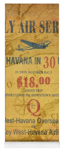 Key West To Havana Yoga Mat