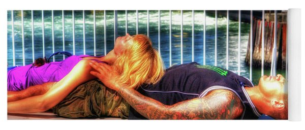 Kickin Back On The Ferry Yoga Mat
