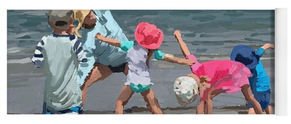 Kid's Yoga Class On Wingaersheek Beach Yoga Mat