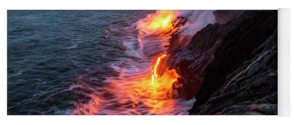 Kilauea Volcano Lava Flow Sea Entry 3- The Big Island Hawaii Yoga Mat