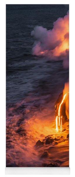 Kilauea Volcano Lava Flow Sea Entry 6 - The Big Island Hawaii Yoga Mat