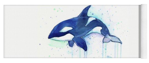 Kiler Whale Watercolor Orca  Yoga Mat