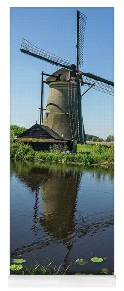 Kinderdijk Windmill Reflection Yoga Mat