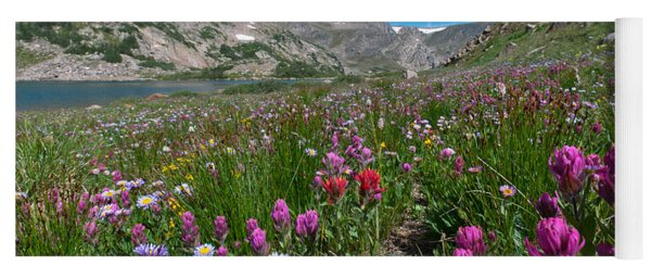 Yoga Mat featuring the photograph King Lake Summer Landscape by Cascade Colors