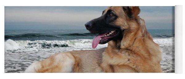 King Of The Beach - German Shepherd Dog Yoga Mat