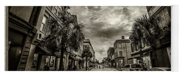 King St. Storm Clouds Charleston Sc Yoga Mat