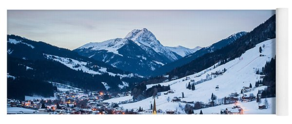 Yoga Mat featuring the photograph Kirchberg Austria In The Evening by John Wadleigh