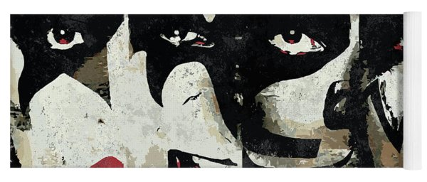 Kiss Art Print Yoga Mat