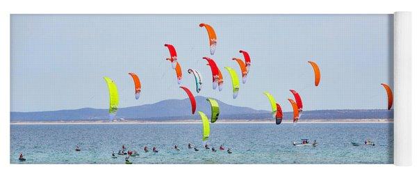 Kite Boarding At La Ventana Yoga Mat