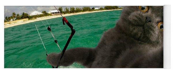 Kite Surfing Cat Selfie Yoga Mat